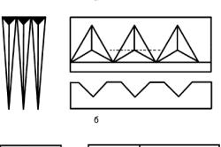 Пример базовых узоров геометрической резьбы