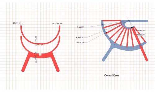 Эскизы кресла для вырезания из фанеры