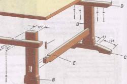 Схема сборки стола из фанеры