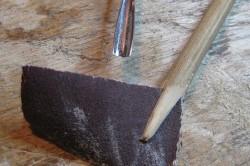 Наждачная бумага для шлифования полученного изделия