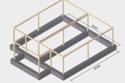 Схема фундамента монолитно-каркасного дома