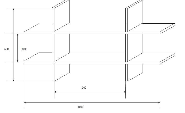 Схема соединения досок для полки