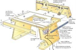 Схема стола для пилы