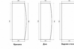 Схема деталей кровати-машинки с размерами