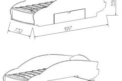 Проект кровати-машинки