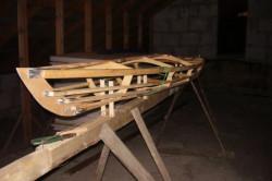 Пример сшивного каркаса лодки