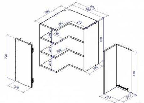 Схема шкафов для кухни
