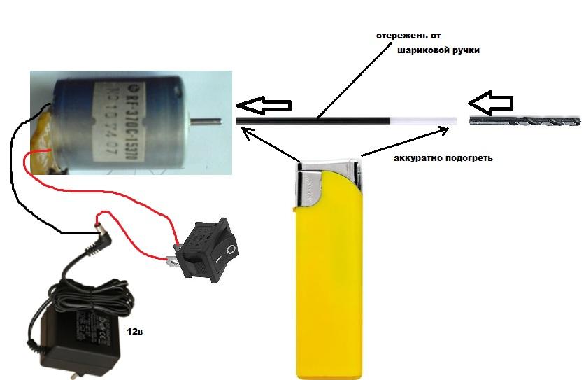 Схема подключения двигателя к