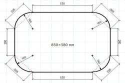 Схема столешницы из фанеры с размерами