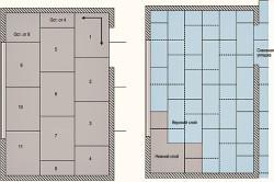Схема укладки листов фанеры