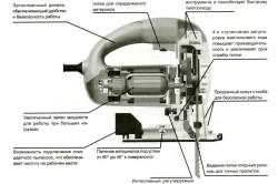 Схема элементов электролобзика