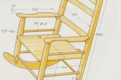 Размеры кресла качалки