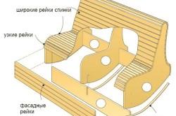 Вариант кресла качалки из фанеры на двоих