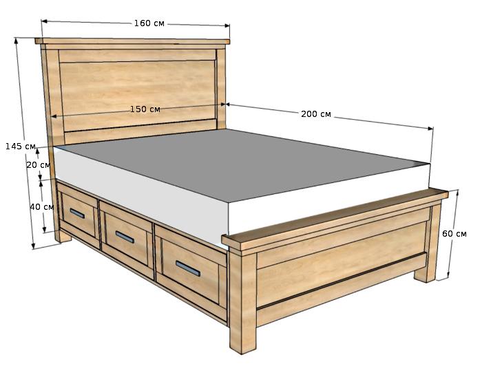 Кровати из фанеры фото