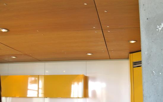 Пример потолка из фанеры