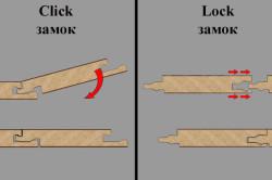 Схема соединения замков ламината