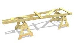 Конструкция штапеля для выполнения работ