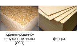 Визуальное сравнение ОСП плит и фанеры