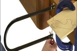 Резьба лобзиком нарисованного рисунка