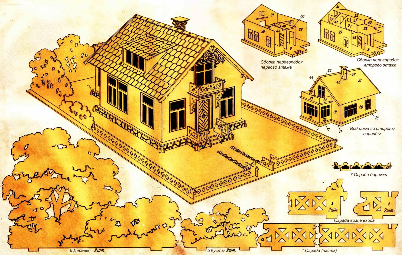 Кукольный домик своими руками из фанеры схема : с размерами чертеж для 75
