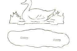 Форма для вырезки утки из фанеры