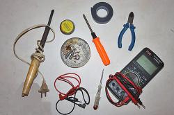 Инструменты для ремонта шнура дрели