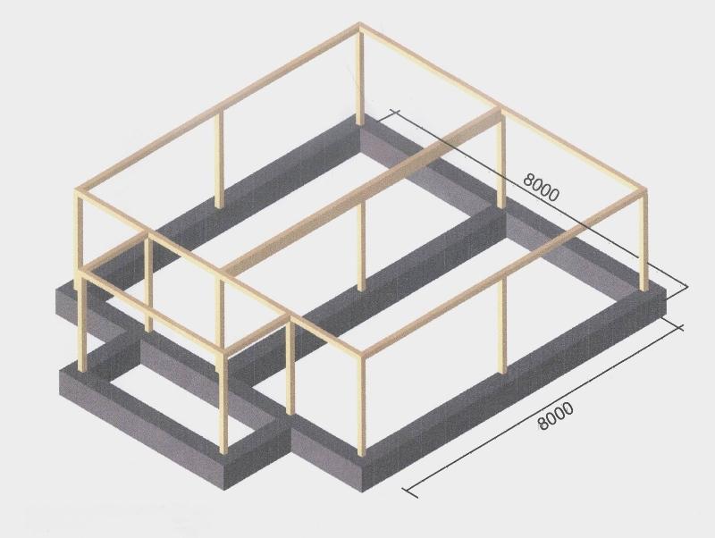 Схема монолитно каркасного дома