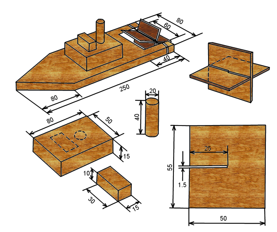 Чертежи поделок из дерева для школьников 28