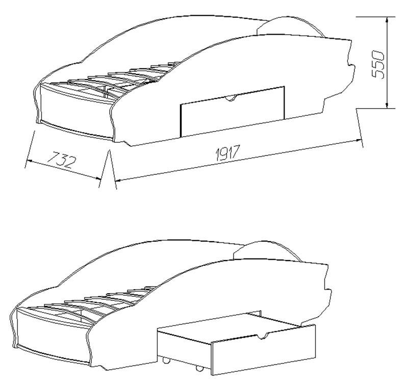 Детская кроватка машина чертежи