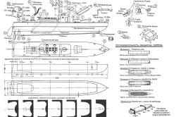 Схема модели корабля из фанеры