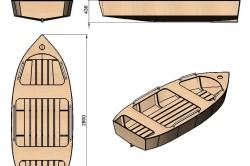 Схема размеров лодки из фанеры