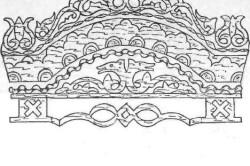 Схема пропильной (сквозной ажурной) резьбы по фанере