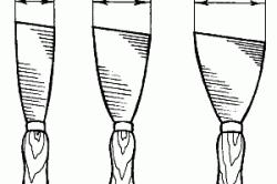 Виды шпателей (размеры даны в см)