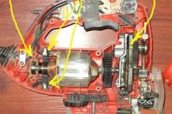 Элементы электролобзика, требующие периодической замены или смазки